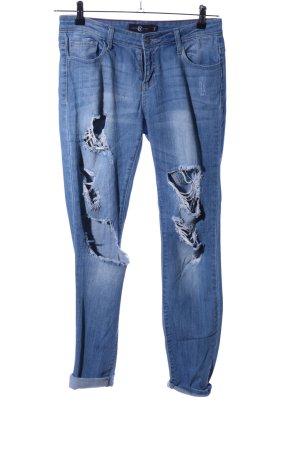 cello jeans Jeans boyfriend bleu style décontracté