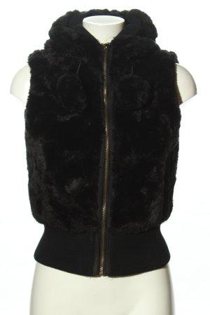 celtic Chaleco de piel sintética negro look casual