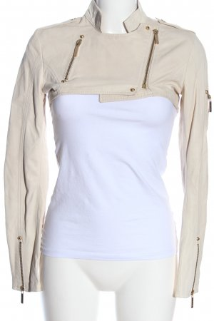 Celyn B. Leather Jacket cream casual look