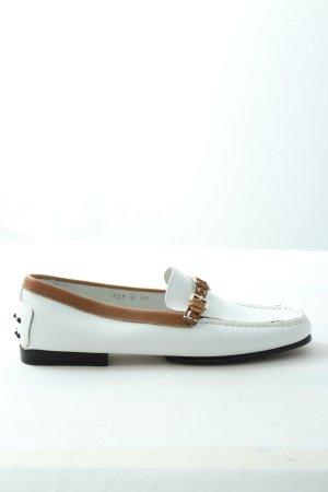Cenedella Mocassino bianco-marrone stile casual