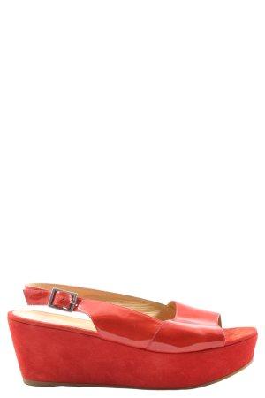 Cenedella Peep Toe Pumps red casual look