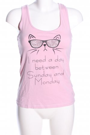 Censored Basic Top pink Motivdruck Casual-Look