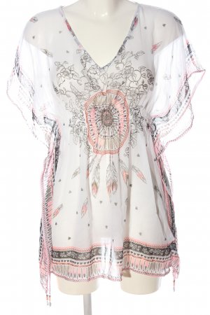 Censored Tunic Blouse abstract pattern casual look