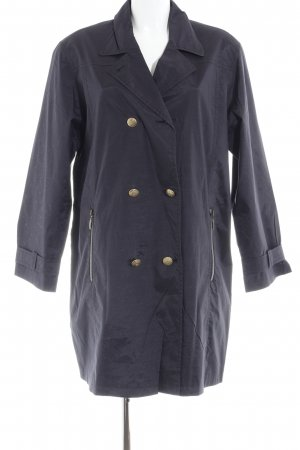 Center Coat Chaqueta estilo naval azul oscuro look casual