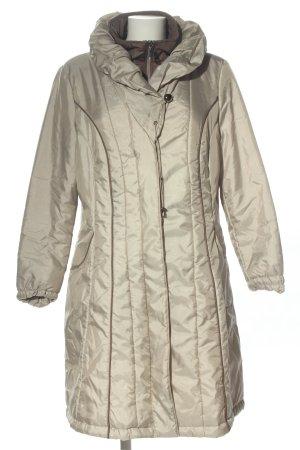 Centigrade Cappotto invernale grigio chiaro motivo trapuntato stile casual