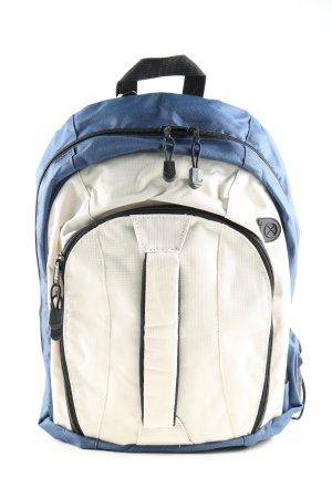 Centrixx Mochila escolar azul-blanco estilo deportivo