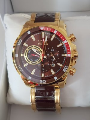 Alexander Milton Analog Watch gold-colored-brown