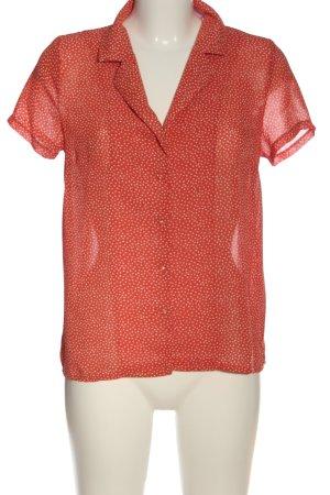 Cerise Blue Short Sleeved Blouse spot pattern casual look