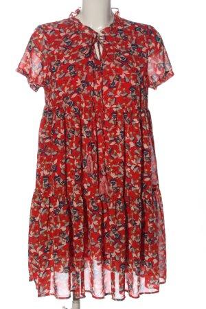 Cerise Blue Shortsleeve Dress allover print casual look