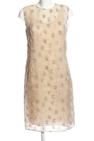 cerruti 1881 Sukienka mini kremowy Graficzny wzór W stylu biznesowym