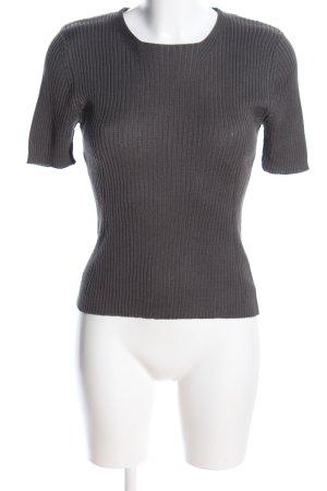 cerruti 1881 Prążkowana koszulka jasnoszary W stylu casual