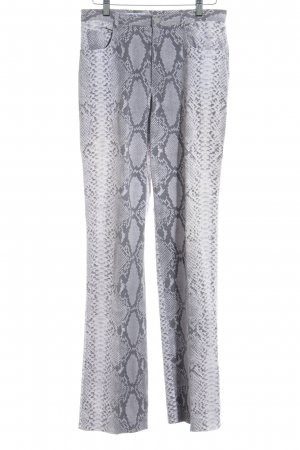 cerruti 1881 Straight Leg Jeans mauve-grey animal pattern