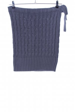 cerruti 1881 Knitted Skirt blue cable stitch casual look
