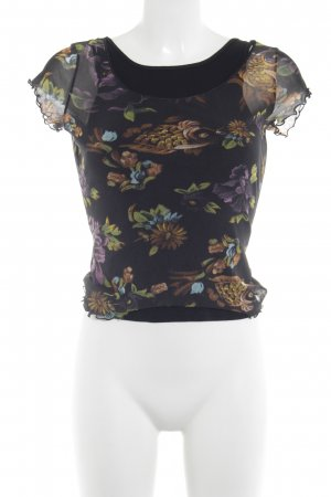 cerruti 1881 Transparentna bluzka Wzór w kwiaty W stylu casual