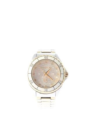 cerruti 1881 Zegarek z metalowym paskiem srebrny-złoto W stylu casual