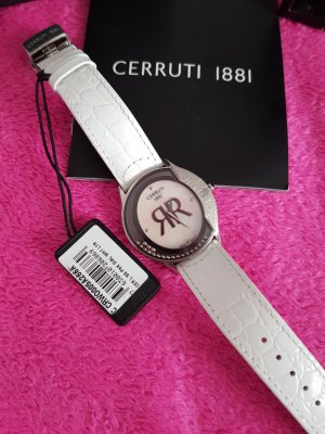 cerruti 1881 Analog Watch white leather