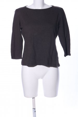 cerruti 1881 Wełniany sweter czarny Melanżowy W stylu casual