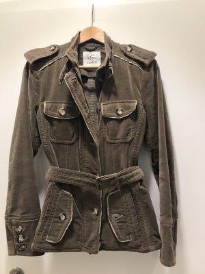 cerruti 1881 Between-Seasons Jacket grey brown-green grey cotton