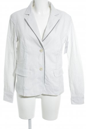 Cerruti Long-Blazer weiß-grau Streifenmuster Casual-Look