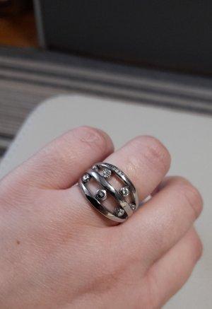 Cerruti Ring zilver-wit