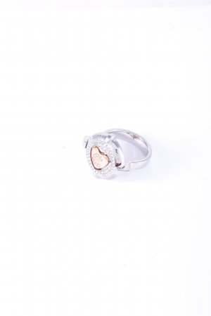 Cerruti Statement Ring silver-colored-rose-gold-coloured Herzmuster glittery