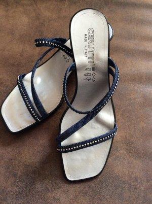 Cerutti Sandaletten Gr 38 blau/ Glitzer