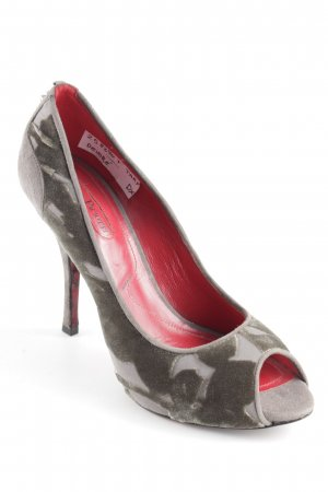 Cesare Paciotti High Heels neon red-grey mixed pattern street-fashion look