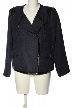 cest paris Biker Jacket blue-black graphic pattern casual look