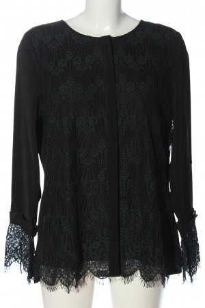 cest paris Shirt Blouse black-green flower pattern casual look