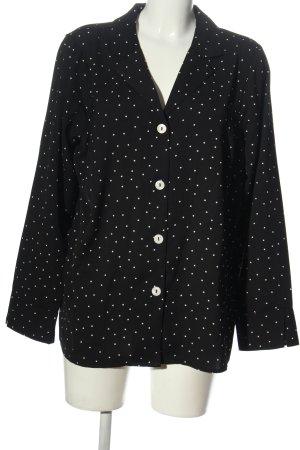 cest paris Shirt Blouse black-white spot pattern casual look