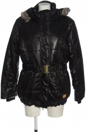 cest paris Quilted Jacket black quilting pattern casual look