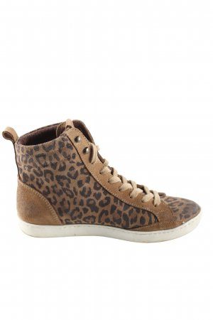 Cetti High Top Sneaker braun-schwarz Animalmuster Casual-Look