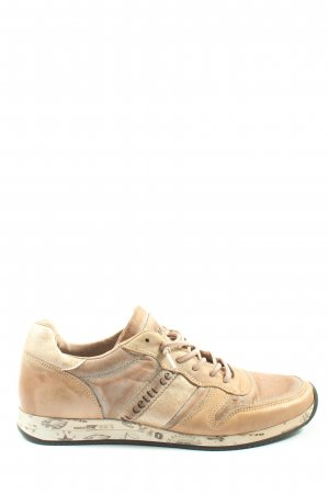 Cetti Lace-Up Sneaker nude-natural white themed print casual look