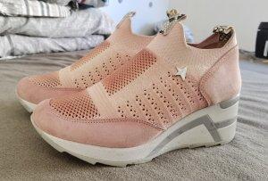 Cetti Sneaker con zeppa rosa chiaro
