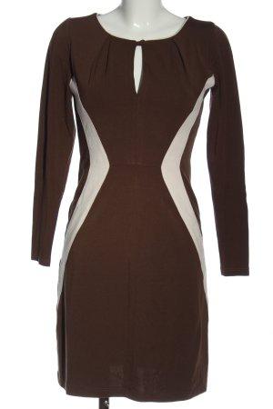 cf selection Longsleeve Dress brown-natural white casual look