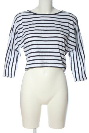 CFL Oversized Shirt weiß-schwarz Streifenmuster Casual-Look