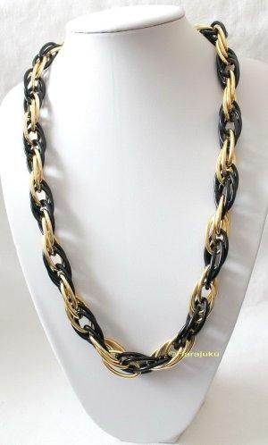 Vintage Link Chain black-gold-colored metal