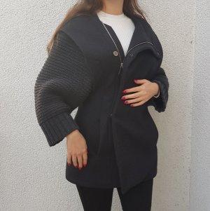 Chalayan Mantel Wolle Kaschmir Coat Chic Hochwertig Luxuriös Designer Luxus Anthrazit