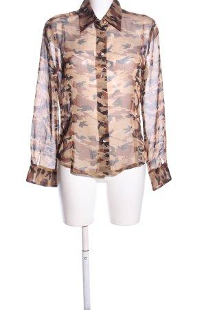 Chaloc Camicia blusa stampa integrale elegante