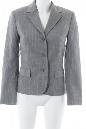 Chaloc Kurz-Blazer grau-weiß Business-Look
