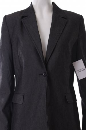 Chaloc Long-Blazer dunkelgrau meliert Business-Look