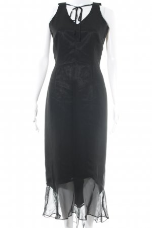 Chaloc Robe longue noir style simple