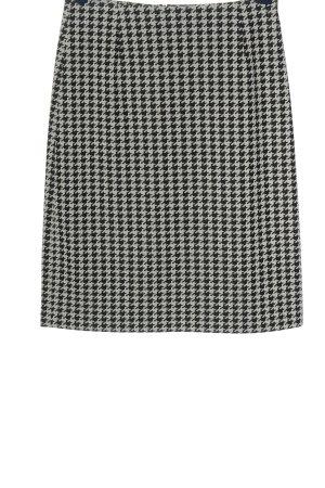 Chaloc Jupe taille haute noir-blanc imprimé allover style d'affaires