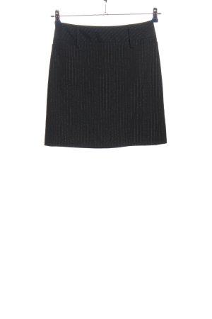 Chaloc Minigonna nero motivo a righe stile casual