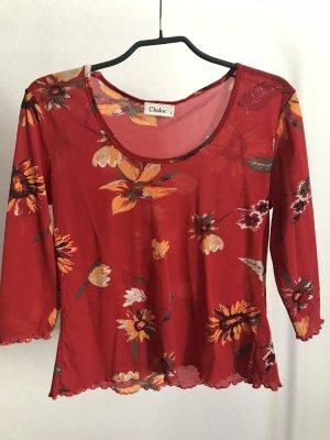 Chaloc Mesh Shirt red-orange