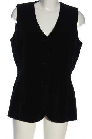 Chaloc Chaleco de vestir negro elegante