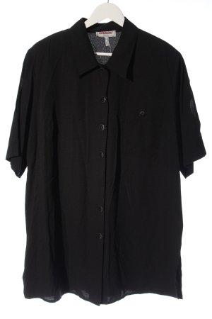 Chalou Chemise à manches courtes noir style d'affaires