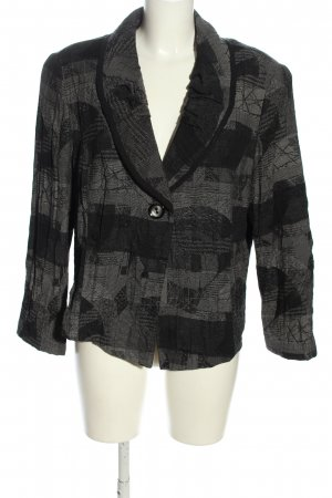 Chalou Short Jacket light grey-black abstract pattern casual look