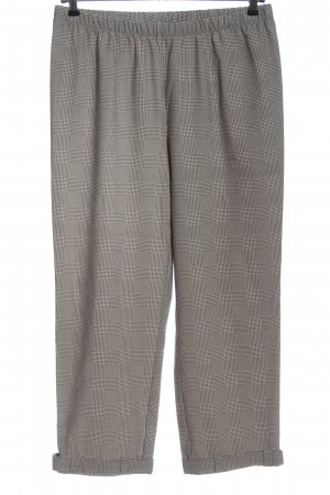 Chalou Jersey Pants light grey check pattern casual look