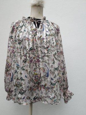 H&M Transparante blouse licht beige